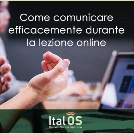 Come comunicare efficacemente durante la lezione online