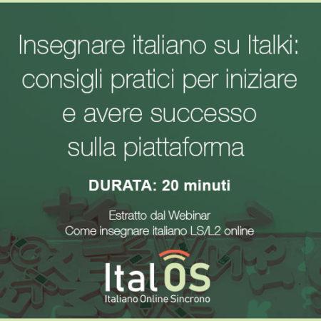 Insegnare italiano su Italki: consigli pratici per iniziare e avere successo sulla piattaforma
