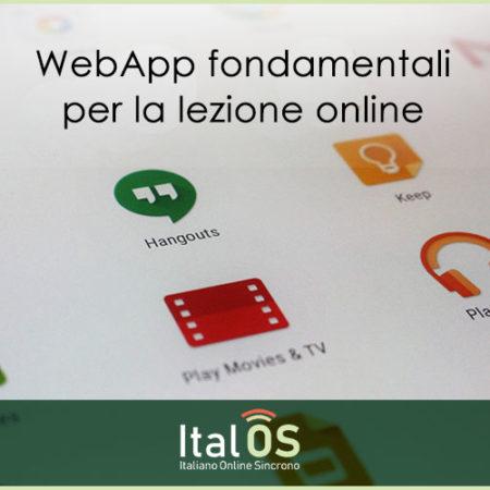 Web App fondamentali per la lezione online