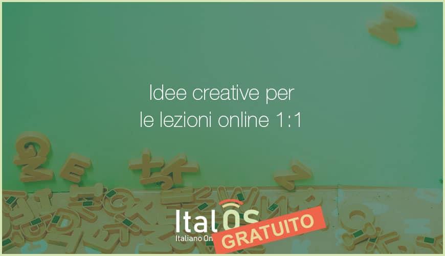 Idee creative per le lezioni online 1:1