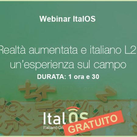 Realtà aumentata e italiano L2: un'esperienza sul campo